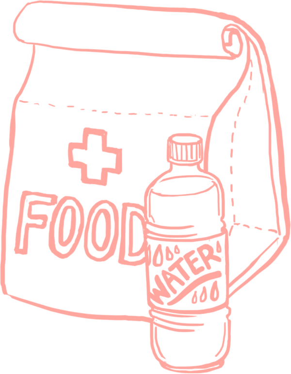 Illustration - Emergency Food & Water